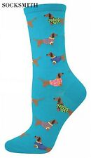 Dachshund Socks -Blue Lagoon Colour Dog Socks *One Size Fits Most