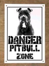 Danger PITBULL zone Targa cartello metallo attenti al cane metal sign