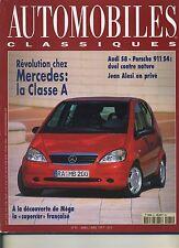 AUTOMOBILES CLASSIQUES n°81 03/1997 PORSCHE 911 S4 AUDI S8 MERCEDES ClasseA MEGA