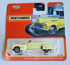 Matchbox 1941 Cadillac Series '62 Convertible Coupe #34 34/100 2021 Short Card