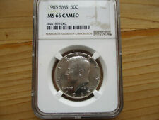 1965 SMS Kennedy Half Dollar NGC MS66 CAMEO-