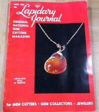 Lapidary Journal Gem Cutting Nov 66 Arco-Iris Opal Mexico Isle of Jewels Selenit