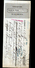 "CLERMONT-FERRAND (63) TISSUS en gros ""MORIN & PIREL / MORIN Fils Succ"" 1887"