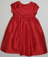 Cherokee Dress Size 3T Red Bow Cap Sleeve Scoop Neck Lined Tulle Dressy Holiday