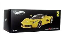 LaFerrari F70 HYBRID 1/18 DIE CAST MODEL YELLOW BY HOT WHEELS ELITE BCT81 NEW