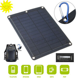 Portable Outdoor Solar Panel Power Energy Generator LED Light USB Charger US