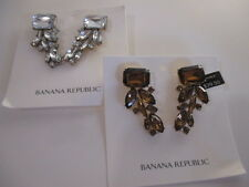 Banana Republic Regalia Cluster Earrings NWT $39.99 Clear bronze set of 2