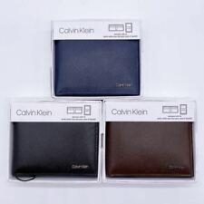 Calvin Klein Billfold Wallet With ID Passcase ~ NIB