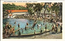 1920's Main Swimming Pool, Sulphur Springs at Tampa, FL Florida PC