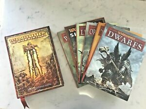 Warhammer Fantasy Book Collection [Rule Book and 6 Armies Books) 8 Ed