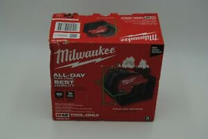 BRAND NEW FACTORY SEALED MILWAUKEE 3622-20 M12 GREEN LASER LEVEL - RED/BLACK