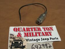Jeep Willys CJ2A CJ3A Faro Dimmer Indicatore NOS Originale!! Raro S40