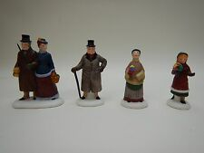 "Dept 56 Heritage Village Collection ""Chelsea Lane Shoppers"" #5816-5 Set of 4 Mib"