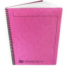 Clairefontaine Europa Notemaker Plus Wiro Notebook - A4+ - 120 Pages - Pink