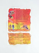 AIR RAIDERS Survival Kit mail away exclusive offer Order Form sheet 1987 Hasbro