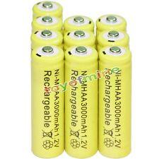10x AA battery batteries Bulk Nickel Hydride Rechargeable NI-MH 3000mAh 1.2V Yel