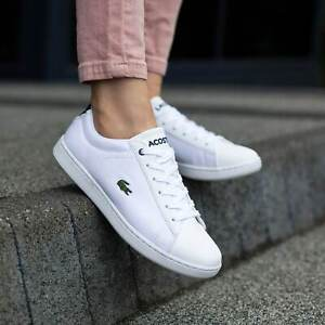 Lacoste Carnaby Evo BL 1 White Synthetic Trainers Shoes