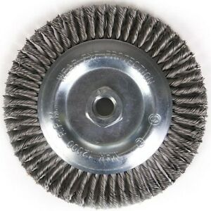 """7"""" x 5/8-11"""" Carbon Steel Stringer Bead Wire Wheel For Angle Grinder"""