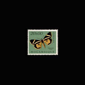 Mozambique, Sc #383, MH, 1953, Moths, butterflies, Insects, FFDD-A