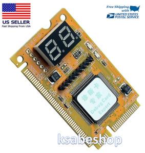 3in1 PC Laptop Analyzer Mini PCI Mini PCI-E LPC Tester Diagnostic Post Test Card