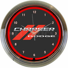 "Neonetics Dodge Charger Neon 15"" Wall Clock"