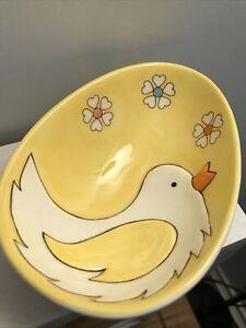 John Lewis Ceramic Bowl Easter Egg Shaped Chick Floral Design