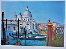 EDWIN HAAS Venetian Lagoon VENICE Limited Edition Color Lithograph SIGNED 17/200