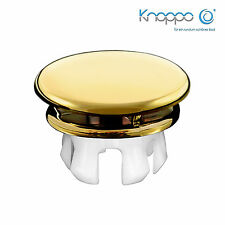 KNOPPO® Waschbecken Überlauf Abdeckung / Design Überlaufblende - Mirror (gold)