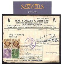 MS2826 1946 BRITISH FORCES BMA LIBYA *FPO 586* Un-Overprinted BOIC KGVI Parcel