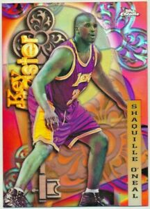 1997-98 Topps Chrome Shaquille O'Neal Key Master Lakers Refractor #21