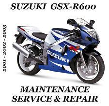 Suzuki GSXR600 Service Repair Maintenance Manual 2001 2002 2003 GSXR 600 GSX-R