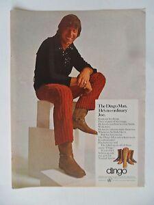 1970 Print Ad Joe Namath Dingo Boots ~ NFL Football New York Jets Not Ordinary