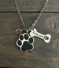Pet urn Memorial necklace personalized name for cremation ashes loss of Dog Gift