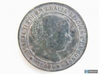 Moneda 2 1/2 Céntimos de Escudo Isabel II 1868