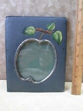 "Vintage PICTURE FRAME,Novelty,APPLE CUT-OUT For PHOTO,Easel-Type,7 1/2"" x 6"""