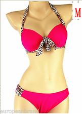 Mode Femme Bikini Taille Haute Imprimé Léopard Surf Maillots de bain maillot de bain Taille UK M