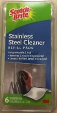 3M Scotch-Brite Stainless Steel Cleaner 6 pack pads Pre Moistened