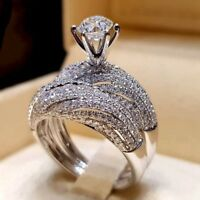 Newest Antique Vintage Design Wedding Engagement Party Rings for Women Ring Set