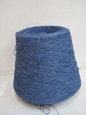 Wolle Garn Stricken& häkeln| Bouclè Kone 88% Leinen Blau 900gr effektgarn b04
