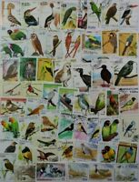BIRDS very nice stamp collection 100 different from around the world (lot #DP)