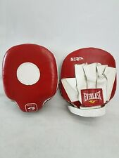 MX Mitts Genuine Leather Mexico Punch Pads for Boxing Training Red/White