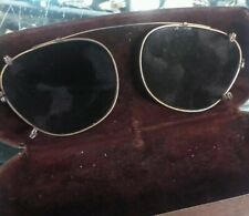 ANTIQUE GREEN COLORED EYEGLASS LENSES With Case