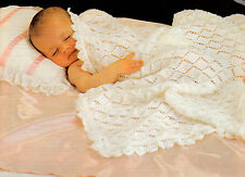 Baby Shawl in 4 Ply Knitting Pattern 0184