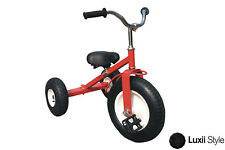 All Terrain Classic Red Tricycle Heavy Duty Steel Adjustable Seat Outdoors Toys
