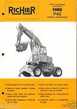 ▬►Prospectus de 1976 RICHIER TRACTO PELLE FORD P 42 NO POCLAIN