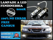 SAAB 9-3 93 2002-2007 LAMPADE FENDINEBBIA H3 LED CREE CANBUS 6000K COPPIA
