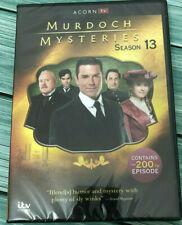 Murdoch Mysteries Season 13 (DVD, 4-Disc) Free Shipping New & Sealed US Seller