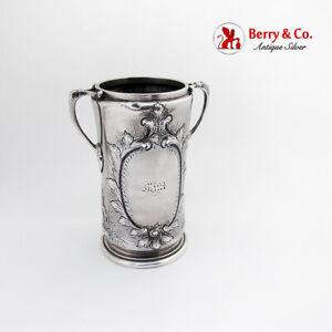 Vanderslice Repousse Foliate Vase Architectural San Francisco Coin Silver 1863
