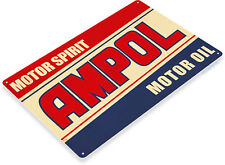 TIN SIGN Ampol Motor Oil Gas Retro Sign Garage Station Cave A006