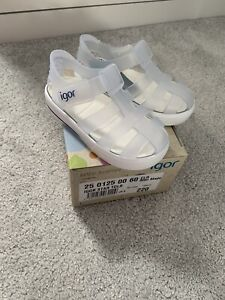 Igor Star Toddler Shoe - Clear - Infant Size UK5